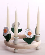 1 Gerbera für großen Kerzenring