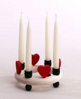 1 Herz, rot für großen Kerzenring