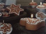 Honigkuchen-Herzen Teelichter