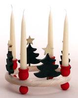 1 Tanne mit Stern für großen Kerzenring