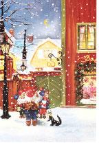 """Mini-Karte """"Tomtekören"""" (Weihnachtsmannchor)"""