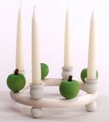 1 Apfel grün für großen Kerzenring
