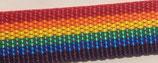 Gurtband PP matt rainbow