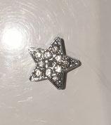 Strassmotiv Stern silberfarbend oder goldfarbend