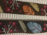 Blätter Webband, schwarz oder braun