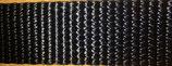 Gurtband PA glänzend, schwarz