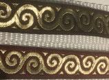 Orientalisches Webband, braun / gold oder bordeaux / gold