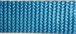 Gurtband PA glänzend, hellblau