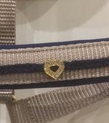 Strassmotiv Herz gold-silber-rot-blau-und schwarzfarbend