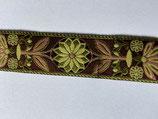 Pinwheel Webband 2,4 cm breit, Braun-grün-rosa