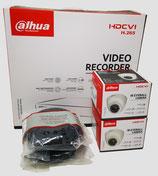 2MP Videoüberwachungsset mit 2 Stk. Mini-Dome-Innenkamera inkl. Zubehör