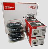2MP Videoüberwachungsset mit 4 Stk. Mini-Dome-Innenkamera inkl. Zubehör