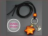 Weihnachtskette Stern Engel orange Nr. Ts 6