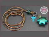 Weihnachten Kette Stern Kreuz grün Nr. Ts 8