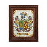 Cuadro Escudos Heráldicos con marco 12 azulejos
