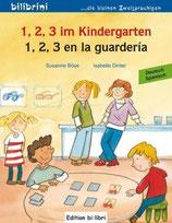 1,2,3 im Kindergarten / 1,2,3 en la guardería  Deutsch-Spanisch