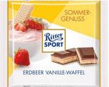 Ritter Sport Wafer con crema sabor fresa con cobertura de chocolate con leche