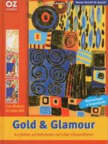 Gold & Glamour.                   Acrylbilder auf Keilrahmen mit tollen Glitzereffekten