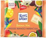 Ritter Sport Chocolate blanco relleno de crema de mango y maracuyá