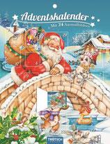 Trötsch Adventskalender mit 24 Ausmalbildern