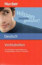 Vertabellen Deutsch
