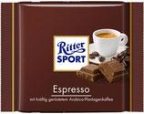 Ritter Sport chocolate con leche relleno de crema de café