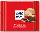 Ritter Sport chocolate amargo relleno de mazapán