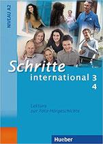 Schritte international 3+4.  Lektüre A2 DaF zur Foto-Hörgeschichte zu Band 3 und 4