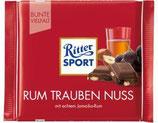 Ritter Sport chocolate con pasas, avellanas y ron