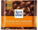 Ritter Sport chocolate con almendras, miel y sal