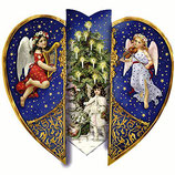Calendario de Adviento  - Adventskalender Aufstellkalender (corazon c/angeles)
