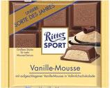 Ritter Sport chocolate con leche relleno de Mousse de Vainilla