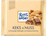 Ritter Sport chocolate con galleta y avellanas