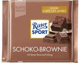 Ritter Sport chocolate con leche sabor Brownie