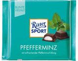 Ritter Sport chocolate amargo con menta
