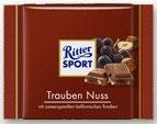 Ritter Sport chocolate con pasas y avellanas