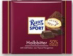 Ritter Sport chocolate semi amargo (50%)