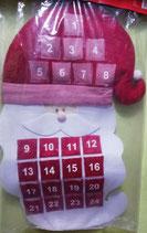 Calendario de Adviento de Tela  -  Santa