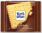 Ritter Sport chocolate con leche relleno de galleta