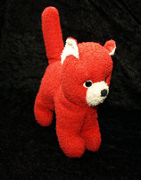 sehr alte Katze rot Frottee 70er Jahre