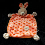 "KIK Hase  Schmusetuch orange "" Rabbit """
