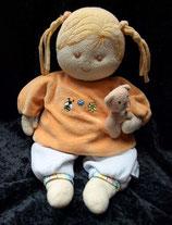 Sterntaler Spieluhr Puppe Magdalena orange