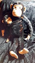 Ikea Stofftier Klappar Affe / Schimpanse Apa mit Kind 50 cm