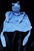 SMILY Woolworth Schmusetuch Katze blau