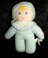 Fashy Baby Puppe Baumwolle   hellblau