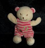 KIK / C.A.T  Teddy / Bär   mit Latzhose rosa getreift