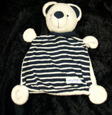 Baby Fehn  Schmusetuch Teddy / Bär  gestreift blau / weiß