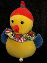Sterntaler Spieluhr als Ente / Vogel Nicki gelb