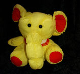 Euro Play Knautschi / Puffalump  Elefant   mit Lätzchen gelb / rot