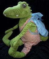 Ikea Stofftier Fabler Krokodil mit Rucksack